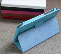 Wholesale folding PU leather case for inch Lenovo A5000 Tablet folio LEATHER stand CASE cover skin shell