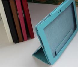 Fashion folding stand folio leather case cover skin shell for Lenovo ideatab S6000 folio leather case
