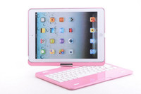 360 keyboard case - 360 Degree Rotatable Aluminum Wireless bluetooth keyboard Case Cover Stand For Apple iPad iPad Air with retail package