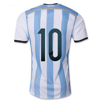 Wholesale Messi Soccer Jerseys Argentina World Cup Soccer Jersey Top Thai Quality Soccer Apparel Brand Players Apparel Well Embroidery Names