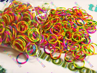 Cheap Loom Rubber Bands DIY Rainbow Color Rubber Band bracelets Refills Compatible loom bracelet rainbow loom bands