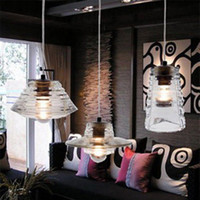 Wholesale 3pcs Different Shape Tom Dixon Chandelier Pressed Glass Bowl Lens Tube Crystal Glass Ceiling Pendant Lamps Chandelier Light Indoor Lighting