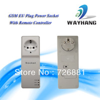 Wholesale EU Plug Style GSM Power Socket Switch With Extended connected Temperature Sensor and Remote controller