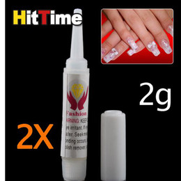Wholesale 10 X g Pink Nail Glue False Tips Acrylic for Nail Art