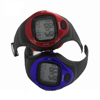 Wholesale Silicone Digital Calorie Counter Pulse Heart Rate Monitor Stop Wrist Watch
