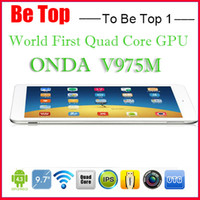Cheap ONDA V975m Tablet PC android 4.2 Quad Core Amlogic 9.7 Inch Retina 2GB RAM 16GB 32GB