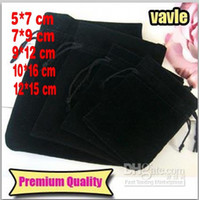 New Black Jewelry Pouches Bags Velvet Drawstring Bags for Ri...