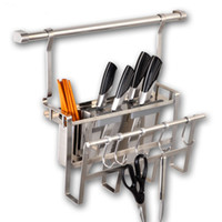 Wholesale 304 stainless steel kitchen multi function chopping cutting board rack shelf chopsticks knife holder anti corrosion antioxidant wearproof
