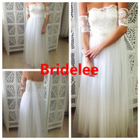 band features - 2014 New Style Dreamy Wedding Dress Featuring Lace Arm Bands and Soft Tulle skirt Bridal Gowns