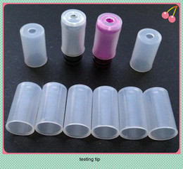 silicone test tip for disposable e-cig ego test drip tips testing drip tips for disposal e-cig ce4 ce5 evod vivi nova vaporizer tips