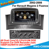 Wholesale S100 A8 Dual Core quot Car DVD GPS Player for Renault Megane Fluence with GB CPU M DDR V ZONE Car DVR G modem opt
