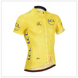 2014 TOUR DE FRANCE YELLOW Y01 ONLY Short Sleeve Cycling Jersey Bicycle Wear Size XS-4XL T01