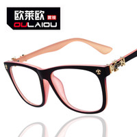 Wholesale UV400 handmade spectacle frame flat glasses decoration outdoor use and driving glasses women optical
