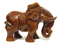 Cheap 19cm natural jade elephant decoration Large lucky crafts home office desk