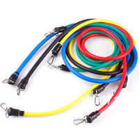 Wholesale 2014 New Latex Resistance Exercise Bands Tubes Set For Yoga Workout Fitness