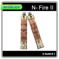 Electronic Cigarette Battery Wood colour Smokjoy n-Fire 2 Hand Carved Skulls Wood 900mAh battery e-cig wooden mod