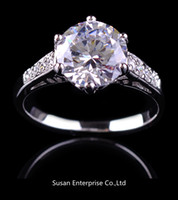 Wholesale Jewelry luxury zircon classic lady s KT white Gold Filled Ring