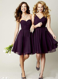 Wholesale 2014 New Chiffon Purple Grape Royal Blue Sliver Red Maid of Honor Dress Cheap Short Junior Bridesmaid Dresses Formal Bridesmaids Gown