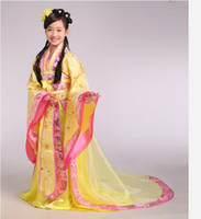 Cheap Fall in Love With China Royal tailing Beautiful Girl's Dress Traditional children costume Ethnic Dress