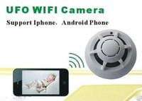 Wholesale UFO WI FI WiFi Wireless IP Camera Hidden Nanny Cam Video Record UFO P2P in stock