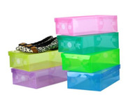 Wholesale 20 Pieces Clear Plastic Shoe Storage Transparent Boxes Shoes Storage Box Debris Storage Box Clamshell Shoebox