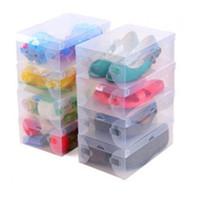 Wholesale Transparent Plastic Storage PP Shoe Box Clear Storage Box Foldable Shoe Box Shoe Storage Box Debris Storage Box