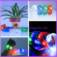 Wholesale Brightness voice control led flashing bracelet for Cheer party LED Colorful Flashing Bracelet Light Blinking Bracelets for cheer party gift