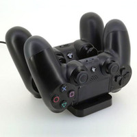 FOR PS4   Dual USB Charger Charging Dock Station for Sony Playstation 4 PS4 Controller NEW