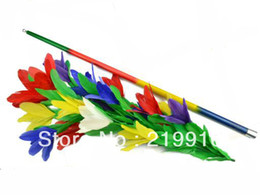 Free Shipping Rainbow Cane to Flower --Magic Trick, Fun Magic, Party Magic.