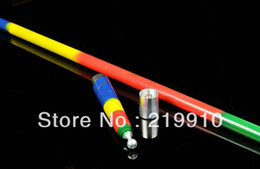 Free Shipping Metal Vanishing Cane-Mulity Color(rainbow)--Magic Trick, Fun Magic, Party Magic.