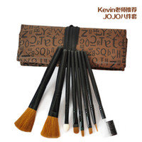 Wholesale High quality set Cosmetic Brushes Makeup Brush Tools Ecotools With Dedicated Bag JOJO Travel Retail
