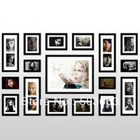 Yes Multi-frame Black 2013 Fashion 17 Pcs Black Solid Wood Combination Wall Mounted Picture Photo Frame foamArt Home Decor L-A53