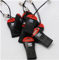 Wholesale high speed USB2 Whistle card reader micro sd card reader tf card reader