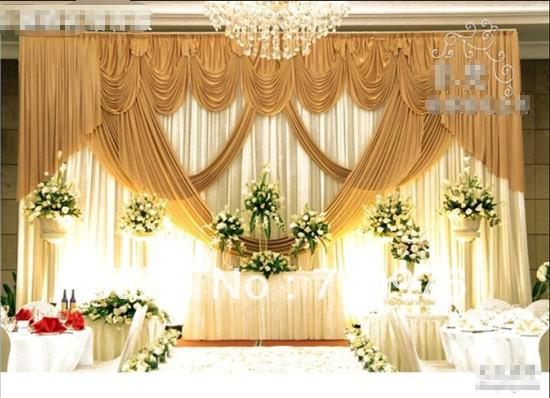 Wedding Party Backdrop Decor And Props Background Curtain Shade Fabrics Fabric Decoration Table