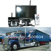 "Cheap WIRELESS CAR REAR VIEW KIT 7"" LCD MONITOR+IR REVERSING PARKING BACKUP CAMERA 18LED for Universal bus truck caravan trailer RV"