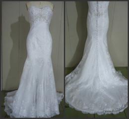 Wholesale 2014 new hot sale In Stock Wedding Dresses A line floor length sweetheart sweep train sleeveless sequins sweetheart zipper