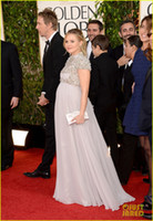 bell caps - High Neck Cap Sleeve Beaded Jewelry Beach Wedding Dresses Chiffon Empire Pregnant Dress Kristen Bell In Jenny Packham Evening Prom Gown