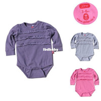 Boy Summer Baby Wholesale - Triangle climbing chest ruffle hem baby romper three-color 0-24m