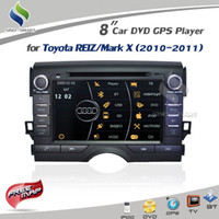 "1 DIN Special In-Dash DVD Player 3.5 Inch Car DVD player for Toyota REIZ Mark X 2010-2011 Virtual 8 DISC 8"" ARM11 GPS RADIO RDS BT MP5 USB Ipod TV map+ Camera optional"