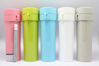 Wholesale Double plastic Water Bottle Chinese Tea Interval Colander Portable Unbreakable Cup