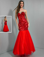 Reference Images Sweetheart Tulle 2014 new design mermaid red Turquoise sweetheart beaded Wow prom dresses sequins evening pageant celebrity gowns high quality free shipping