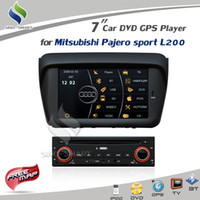 "1 DIN Special In-Dash DVD Player 3.5 Inch car dvd Free ship Virtual 8 CD 7"" DVD GPS Player with RADIO RDS BT MP5 iPod TV For Mitsubishi Pajero Sport L200 Support Rockford system"