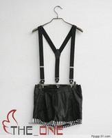 Wholesale New Mens Womens Unisex Clip on Suspenders Elastic Y Shape Adjustable Braces Colorful