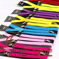 Wholesale New Mens Womens Unisex Clip on Suspenders Elastic Y Shape Adjustable Braces Colorful EMS FREE TO AUS