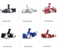 360 Rotational Aluminum Colorful Swivel Rotable Aluminum Rotating 510 Drip Tips Mouthpiece Vivi Nova DCT EE2 U-DCT 510 Atomizers clearomizer