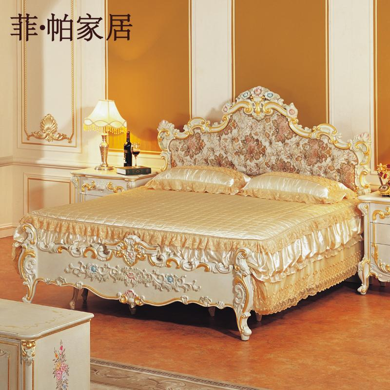Baroque bed frame gothic bedroom chambre prune gothique for French baroque bed