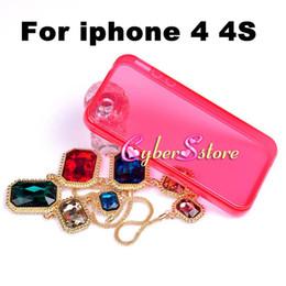Cas transparents pour iphone 4s à vendre-Pour iPhone 4 4S, Mix couleur cristal souple Transparent Housse en TPU pour Apple iPhone 4 4S 4G