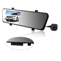 "Cheap car dvr Car Rearview Mirror Camera Recorder DVR 6000A Dual Lens 4.3"" TFT LCD Full HD 1920x1080p Rear view camera 720P with GPS G-sensor"