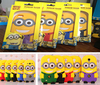 Above 2000mAh big apple boxes - Retail Box D Despicable Me Soft Silicon Cartoon Gel Rubber case Cover For iPhone G S C S Galaxy S3 S4 Mini iTouch Big Eye