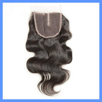 Peruvian Hair Natural Color Body Wave 5A Cheap peruvian lace closure 4*4 Bleached Knots Body Wave Swiss Hair can be dyed middle parting